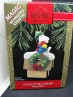 1992 PEANUTS #2, WREATH LIGHTS & BLINKS HALLMARK ORNAMENT