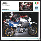 1986 Gilera 350 & 500 Dakota Motocross Off-Road Motorcycle Photo Spec Sheet Card