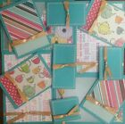 Premade Scrapbook Page Embellishment Kit SEWN 12 pieces Good Times With You