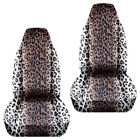 Cc 2007-2014 Fits Smart Fortwo Front Set Car Seat Covers Leoprad And Tiger Desig