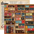 LETS CRUISE VACATION TRAVEL BAGGAGE SUITCASES 2 SIDED CARDSTOCK SCRAPBOOK PAPER