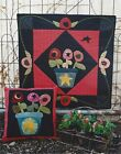 PATTERN Primitive Posies Sunflower Wall Quilt UNCUT OOP Country Threads