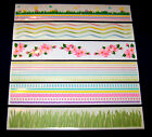 MRS GROSSMANS Border Stickers EASTER VARIETY Design Lines Six 2x12 Strips