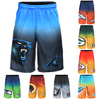 NFL Football Mens Gradient Big Logo Training Gym Shorts Pick Team
