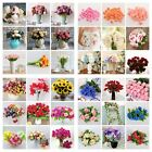 Chic Artificial Silk Fake Leaf Peony Flowers Floral Wedding Party Home Decors US