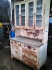 Antique medical apothecary cabinet patina glass monel industrial bohemian hutch