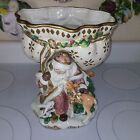 GORGEOUS FITZ & FLOYD CLASSICS SNOWY WOODS COMPOTE-11.5
