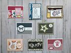 8 Handmade General All Occasion Hello greeting cards env Stampin Up + more