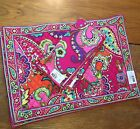 VERA BRADLEY PINK SWIRLS SET OF One PLACEMAT  1 Napkin NEW NWT More Available