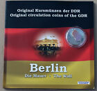 German Democratic DDR Coin Set 1989 With Authentic Piece from Berlin Wall