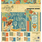 Graphic 45 Double Sided Paper Pad 8X8 24 Pkg Worlds Fair 8 Designs 3 Each