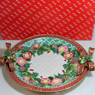 Fitz & Floyd Christmas Wreath Round Porcelain Serving Platter w/Box