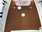 47x94 6MM Dark Brown Yacht EVA Boat Floor Mat Teak Decking Carpet Sheet Pad