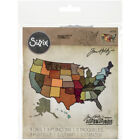 Sizzix Thinlits Dies 3 Pkg By Tim Holtz United States Map