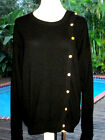 Vintage Chanel Cashmere Cardigan Sweater w CrystalFlower Buttons FR42 M L 10 12