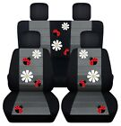 Front And Rear Car Seat Covers Vw Beetle Hot Pink Daisy Lady Bug Choose