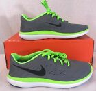 Nike flex run gray green athletic training casual sneakers size 7Y