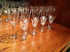 Formal glassware etched water and cordial glasses set Stemware ferns flower