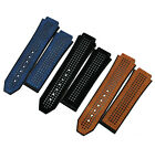 New Rubber With Matte Calf Leather Watch Band Strap For Hublot Big Bang