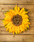Sunflower Wreath Front Door Hanging Decor Home Wall Decorations Fabric Yellow