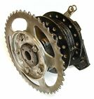Honda XL200R, Rear Wheel Hub & Brake Panel, Sprocket. 1983 - 1984.