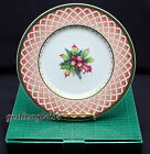 Fitz & Floyd Winter Holiday 8 SALAD PLATES Rose Wreath Classic Choices Christmas