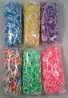 US SELLER Two Color TIE DYE RUBBER BANDS REFILL for Rainbow Loom Bracelets