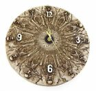 Skeleton Skull Bone Witch Wall Clock Celetic Gothic Wall Art