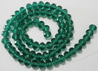 148PCS 3x4mm Dark Green Crystal Faceted Loose Bead