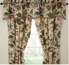 LAUREL SPRINGS PARCHMENT 100X84, 2 LINED DRAPES TIE BACKS~