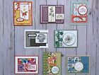 8 Handmade Get Well greeting cards envelopes Stampin Up + more