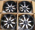 NEW 4PC SET 20x12 WHEELS RIMS 6x1397 6x55 BLACK MACHINED 44 GMC CHEVY TOYOTA