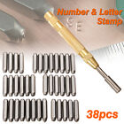 38pc Steel Number Letter Metal Punch Set 1 8 Stamp Automatic Center Alphabet ID
