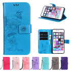 Embossed Card Slot Wallet Stand PU Leather Soft Case Cover For Samsung Galaxy