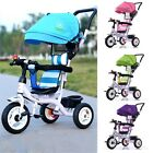 Baby Stroller Kids Tricycle Travel Safety Ride Toys Pram With Sunscreen Umbrella