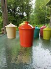 FIESTA WARE large CANISTER CROCK LID poppy orange NEW