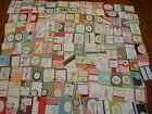 120 STAMPIN UP Handmade cards and card fronts 120 total
