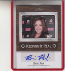 2012 LEAF POP CENTURY KEEPING IT REAL BRISTOL PALIN DWTS SARAH AUTOGRAPH AUTO