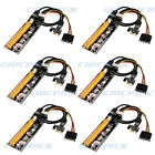 6 PCS USB 30 Pcie PCI E Express 1x To 16x Extender Riser Card Adapter BTC Cable