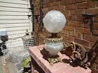 GREAT ANTIQUE GONE WITH THE WIND LAMP PUFFY GRAPESGRAPE LEAVES AND VINES