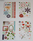 NEW BasicGrey Self Adhesive Chipboard4 Sheets Scrapbooking Glitter Christmas
