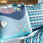 Twin Sea Life Pattern Cotton Quilt Set Tropical Fish Ocean Coral Starfish