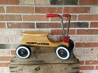 VINTAGE RADIO FLYER WOODEN SCOOTER SIT N SCOOT CHILD'S RIDE ON 4-WHEEL BIKE