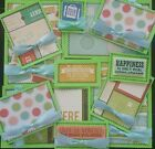 Premade Scrapbook Page Embellishment Kit SEWN 12 pieces Travelling Happiness
