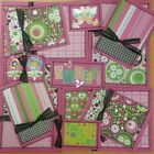 Premade Scrapbook Page Embellishment Kit SEWN 12 pieces You and Me