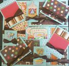 Premade Scrapbook Page Embellishment Kit SEWN 12 pieces Circus Carnival