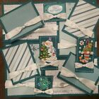 Premade Scrapbook Page Embellishment Kit SEWN 12 pieces First Snow