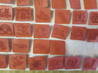 Set of 77 Kids Rubber Stamps with DINOSAURS SPACE Alphabet Numbers and Symbols