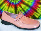 sz 6 M pink patent leather NINE WEST loafers boat shoes
