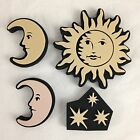 NWOT Set Of 4 Foam Chunky Stamps Sun Moon Stars